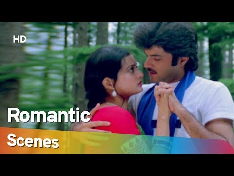 Anil Kapoor and Vijayata Pandit Romantic Scenes from Mohabbat (1985) - Amjad Khan - Hit Hindi Movie