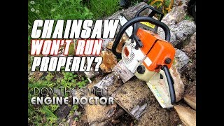 """Is your chainsaw running erratically and becoming unreliable? You could be experiencing the symptoms and may also have the same problem as the saw in this video!Gasket is part #1119 029 2301Stihl MS260 top end repair video;;https://www.youtube.com/watch?v=RyV5sioKDwwChainsaw leak down test video;https://www.youtube.com/watch?v=23HvdPI_vgEHelp me buy a new camera! http://patreon.com/donyboy73Follow me on Facebook; https://www.facebook.com/pages/Donybo...Twitter;https://twitter.com/donyboy73Instagram: http://instagram.com/donyboy73/GOOGLE+ https://plus.google.com/u/0/b/1016213...Due to factors beyond the control of DONYBOY73 """"The Small Engine Doctor"""", it cannot guarantee against unauthorized modifications of this information, or improper use of this information.  DONYBOY73 """"The Small Engine Doctor"""" assumes no liability for property damage or injury incurred as a result of any of the information contained in this video. DONYBOY73 """"The Small Engine Doctor"""" recommends safe practices when working with power tools, hand tools, lifting tools, jack stands, electrical equipment, blunt instruments, chemicals, lubricants, or any other tools or equipment seen or implied in this video.  Due to factors beyond the control of DONYBOY73 """"The Small Engine Doctor"""", no information contained in this video shall create any express or implied warranty or guarantee of any particular result.  Any injury, damage or loss that may result from improper use of these tools, equipment, or the information contained in this video is the sole responsibility of the user and not DONYBOY73 """"The Small Engine Doctor"""".#DIY"""
