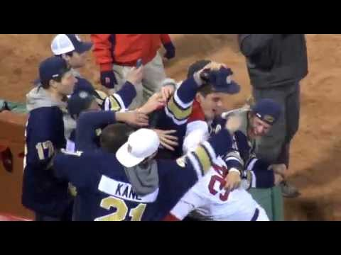 Trinity's National Champions Throw First Pitch at Fenway Park