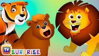 Surprise Eggs Nursery Rhymes Toys  Wheels On The Bus - Kenya  Learn Wild Animals and Animal Sounds  ChuChu TV