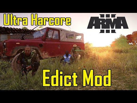 NEW Arma 3: Edict Mod (Ultra Hardcore) (видео)