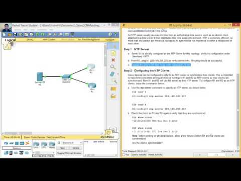 2.3.1.5 Packet Tracer - Configure and Verify NTP (видео)