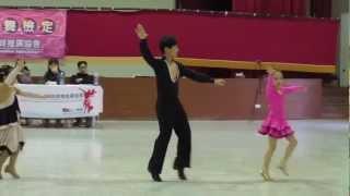 20130331-中正國小王苡瑄國標舞銅級單人捷舞檢定(最右邊者)