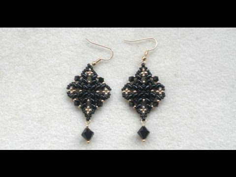Earrings - I love these superduo with swarovski bead earrings guys, hope you do to. :-)