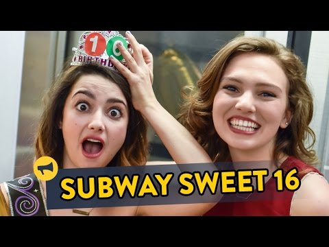 Sweet Sixteen Subway Prank