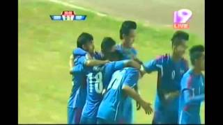 Nawayug Shrestha goal against maldives in Semi Finals of Bangabandhu Gold Cup 2016
