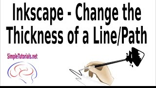 Inkscape – Change the Line Thickness – A few ways to change the line thickness...Beginners or newbies, take a quick look at how to change your line thickness in Inkscape by watching this video.