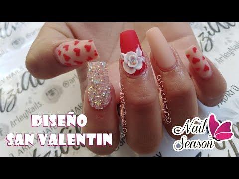 Uñas decoradas - Diseño San Valentin 3d Uñas Dual Form - Invitada: Yarentzi Alvarez