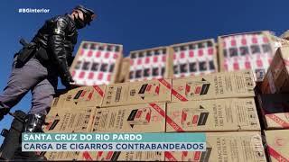 Apreensão de cigarros contrabandeados em Santa Cruz do Rio Pardo