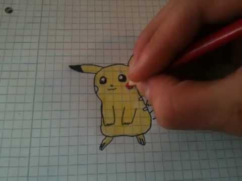 Pikachu von Pokémon zeichnen / Mangafigur Pikachu malen