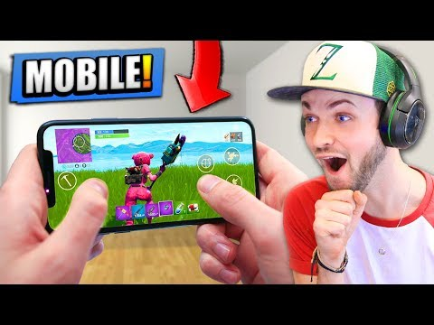 FIRST FOOTAGE of Fortnite: Battle Royale on MOBILE!