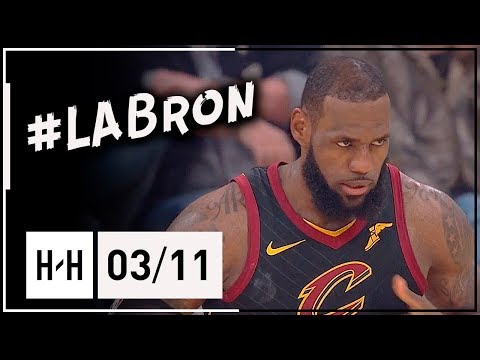 LeBron James Full Highlights Cavs vs Lakers (2018.03.11) - 24 Pts, 10 Reb, 7 Ast, #LABron