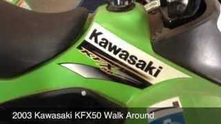 4. 2003 Kawasaki KFX50 Walk Around