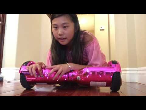 Pink Chrome Hoverboard Unboxing And Test
