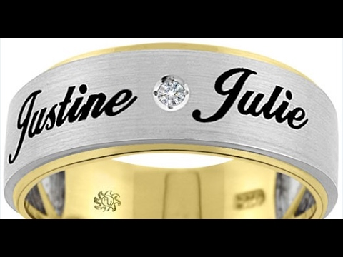 Wedding Ring Design With Name