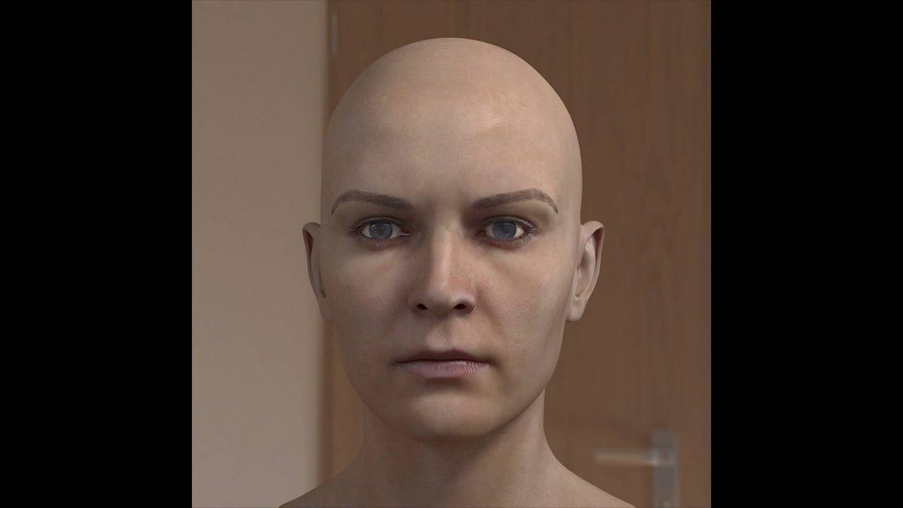 photorealistic 3d model woman head 3ds max tutorials