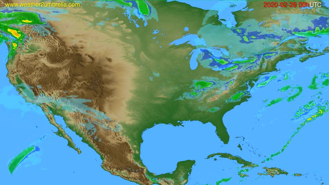 Radar forecast USA & Canada // modelrun: 12h UTC 2020-02-28