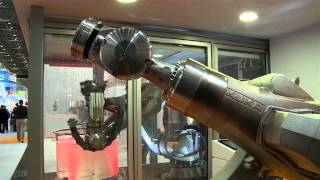 Die großen Messen der Metallbranche finden nur alle vier Jahre statt. Das bedeutet besonders viele Maschinen und  neue Materialen zur GIFA, METEC, THERMPROCESS und NEWCAST. Manche Exponate haben sogar das Zeug zum Terminator (Quelle: m4-tv.com/mtx).