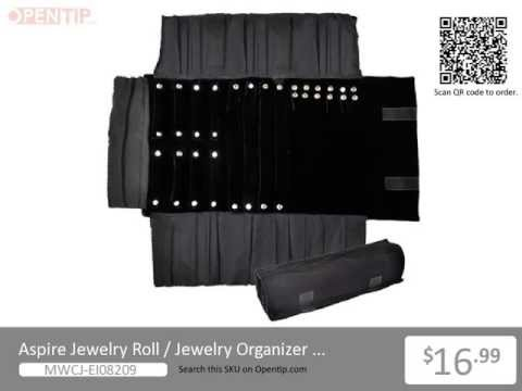 Aspire Jewelry Roll / Jewelry Organizer for Travel from Opentip.com