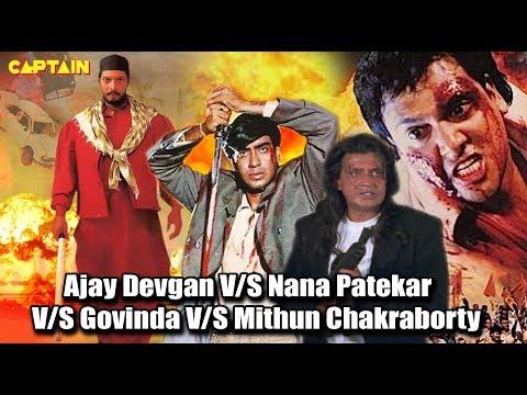 Top Bollywood Action Scenes    Ajay Devgan V/S Nana Patekar V/S Govinda V/S Mithun Chakraborty