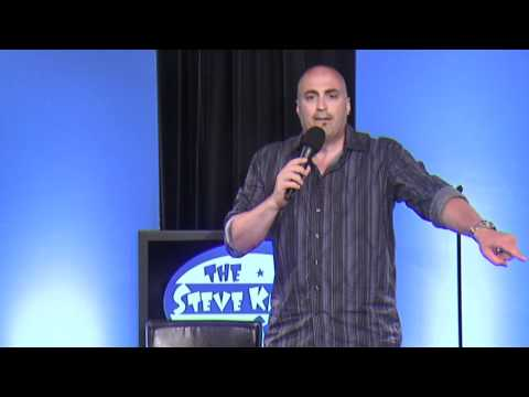 Mike Koutrobis does stand-up comedy on The Steve Katsos Show
