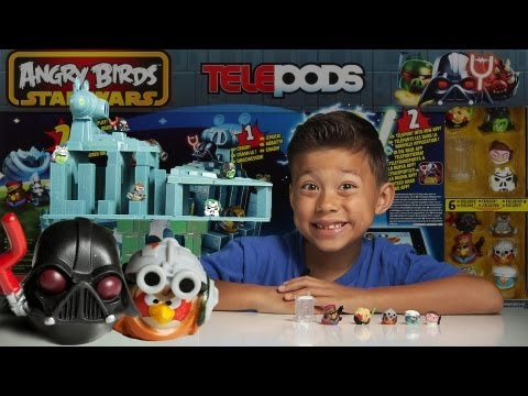 STAR - ANGRY BIRDS STAR WARS 2 TELEPODS! DAY 1 (Death Star Trench Run): http://youtu.be/k5EQwSAVgoQ DAY 2 (Battle on Geonosis): http://youtu.be/zhGqEV1fsE4 DAY 3 (S...