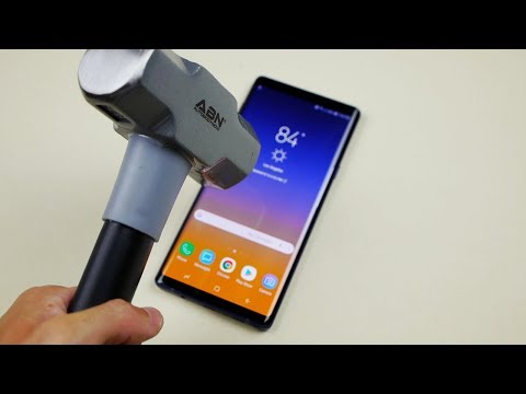 Samsung Galaxy Note 9 Hammer & Knife Test