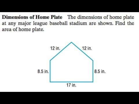 Baseball Home Plate Dimensions - Green Home