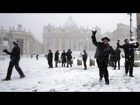 Winter in Rom: Erster Schnee seit sechs Jahren