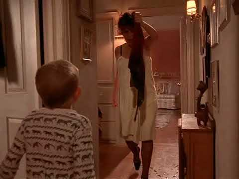 In Malcolm in the Middle's episode Red Dress, you can clearly see a crew member hand Lois the burned dress from a bucket of water