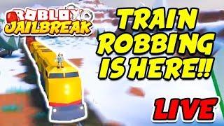 Roblox Jailbreak NEW WINTER UPDATE! TRAIN ROBBING! Trains, Volt Bike, ATVs, and NEW McLaren Car!!