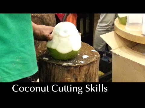 Video Amazing Coconut Cutting Skills - Flesh & Juice Intact! download in MP3, 3GP, MP4, WEBM, AVI, FLV January 2017