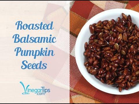 Balsamic Roasted Pumpkin Seeds