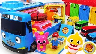 Video Tayo~ Let's turn into a Camping Bus! Let's go camping with Baby Shark, Pororo! #PinkyPopTOY MP3, 3GP, MP4, WEBM, AVI, FLV Januari 2019