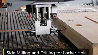 Made in China CNC Router 1325D machine for woodworking,door panels with Syntec control system youtube video