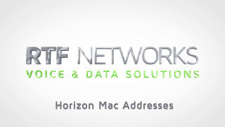 RTF Horizon - MAC Addresses