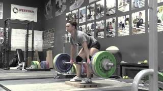 Daily Training 11-12-14 - Alyssa clean pull on riser