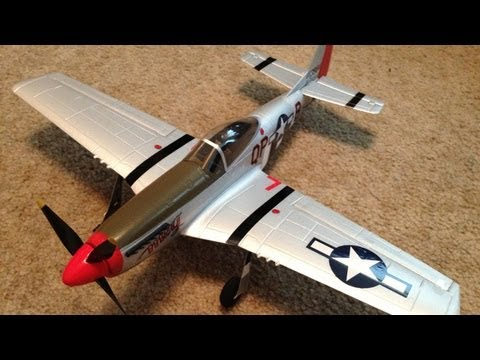 Parkzone Ultra Micro P-51 Mustang With AS3X Review (Unboxing & Maiden Flight)