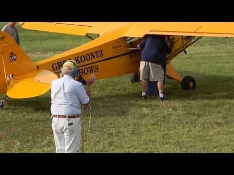 Piper Cub Stunt Flying Comedy Act KLHV 6 20 13