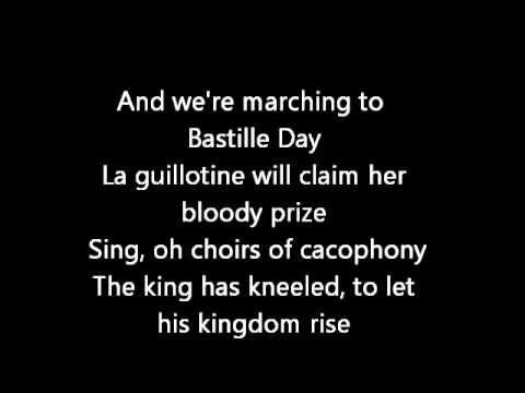 Rush-Bastille Day (Lyrics)
