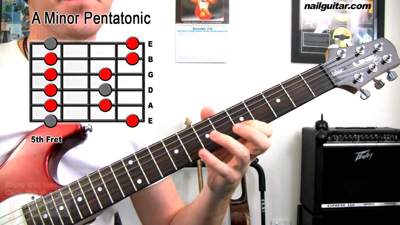 A Minor Pentatonic Scale – Guitar Tutorial Lesson (MUST learn scale for Blues, Rock & Metal)