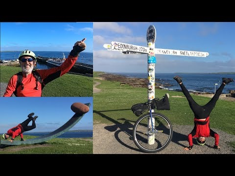 Land's End to John O'Groat (LEJOG) - Radtour mit dem Einrad durch England
