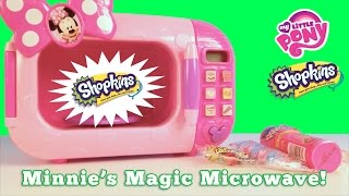 Its the Minnie Mouse Microwave from the Disney Junior Mickey Mouse Clubhouse tv show again!!!!! Except this time it's even more magical because watch as candy turns into blind bags! Shopkins Season 5, MLP My Little Pony blind bags and MLP My Little Pony Squishy pop! This is so much fun!Don't forget to subscribe to our family's SUPER Family Friendly Channel! It's Free!!! Be the first to know about our fun and educational out of this world video. Always clean, always fun! Our videos are out of this world fun and perfect for toddlers, infants, babies, pre-schoolers, school aged children. We are all about unboxing videos, toy reviews, play videos, fun DIY videos, Glitter Gliders and more! Channel link here: https://www.youtube.com/channel/UC4Cc...Check out some of our other princess and fun toy videos:Baby Alive vs. Real Baby food challenge: https://www.youtube.com/watch?v=qP2ze6iRzjsElsa and Anna Frozen Toddler try to visit Disney World via Hello Kitty Airplane: https://www.youtube.com/watch?v=8BqMk4WGLuAHow to make a Shopkins Season 5 charm bracelet:https://www.youtube.com/watch?v=9fcds...Shopkins Beados Unboxing and toy review:https://www.youtube.com/watch?v=SA-tU...My Little Pony in Glitter Slime:https://www.youtube.com/watch?v=dXAJF...Giant Minion Mystery Surprise Egg:https://www.youtube.com/watch?v=E59lr...5 Must have toys for summer! Plus brand new Finding Dory blind bags! https://www.youtube.com/watch?v=qOmfC...Minnie Mouse Also called: Minnie Loja de Laços, La Boutique de Minnie, Los cuentos de Minnie, Minnie Toons, La Fiocco Boutique di Minni, Butik Minnie, бутик Минни, Минни-Маус Бутик, Boutique de Moños de Minnie, A Loja de Laços da Minnie.