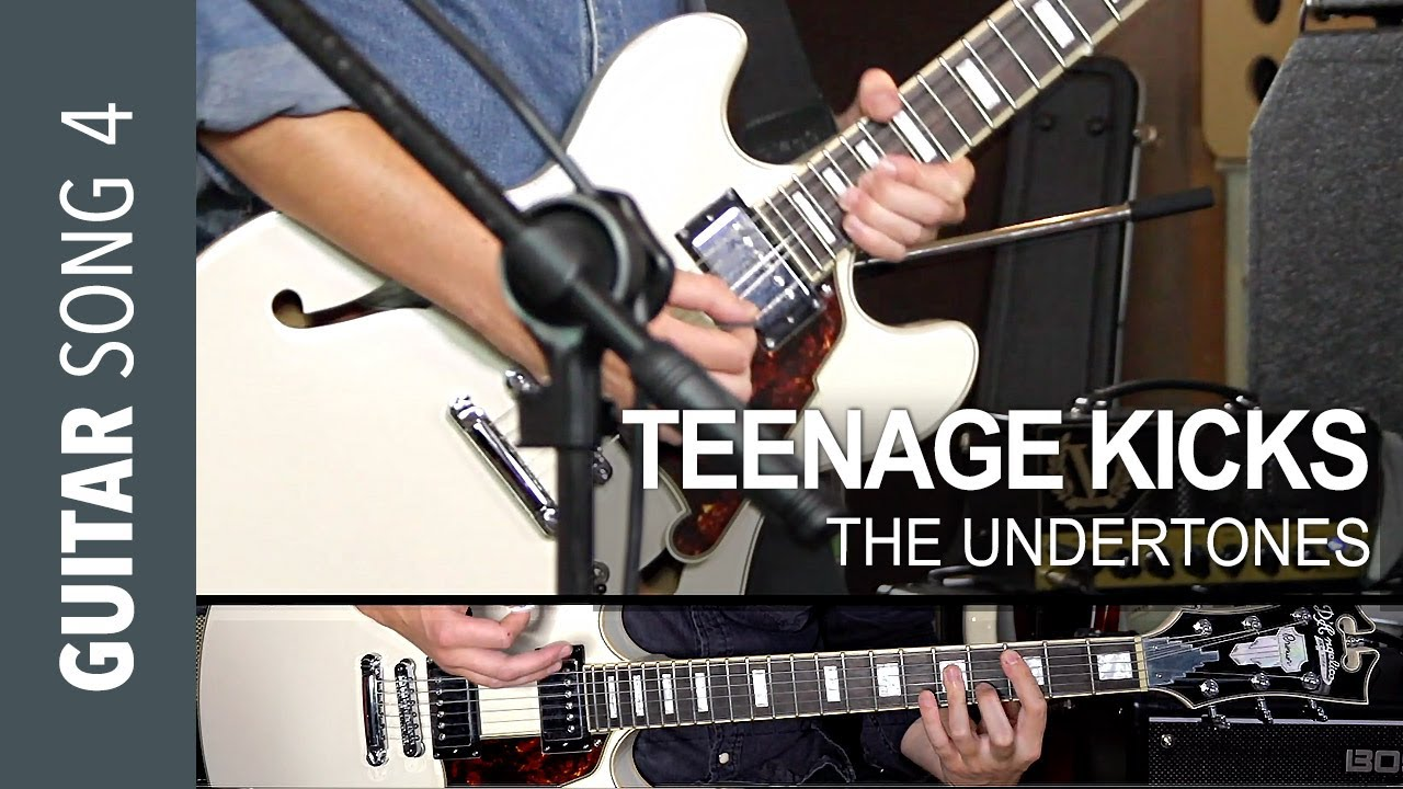 Electric Guitar Song 4 – TEENAGE KICKS Guitar Lesson Tutorial how to play – The Undertones