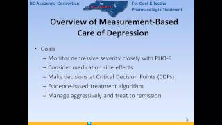Internal Medicine Grand Rounds - Managing Depression In Primary Care