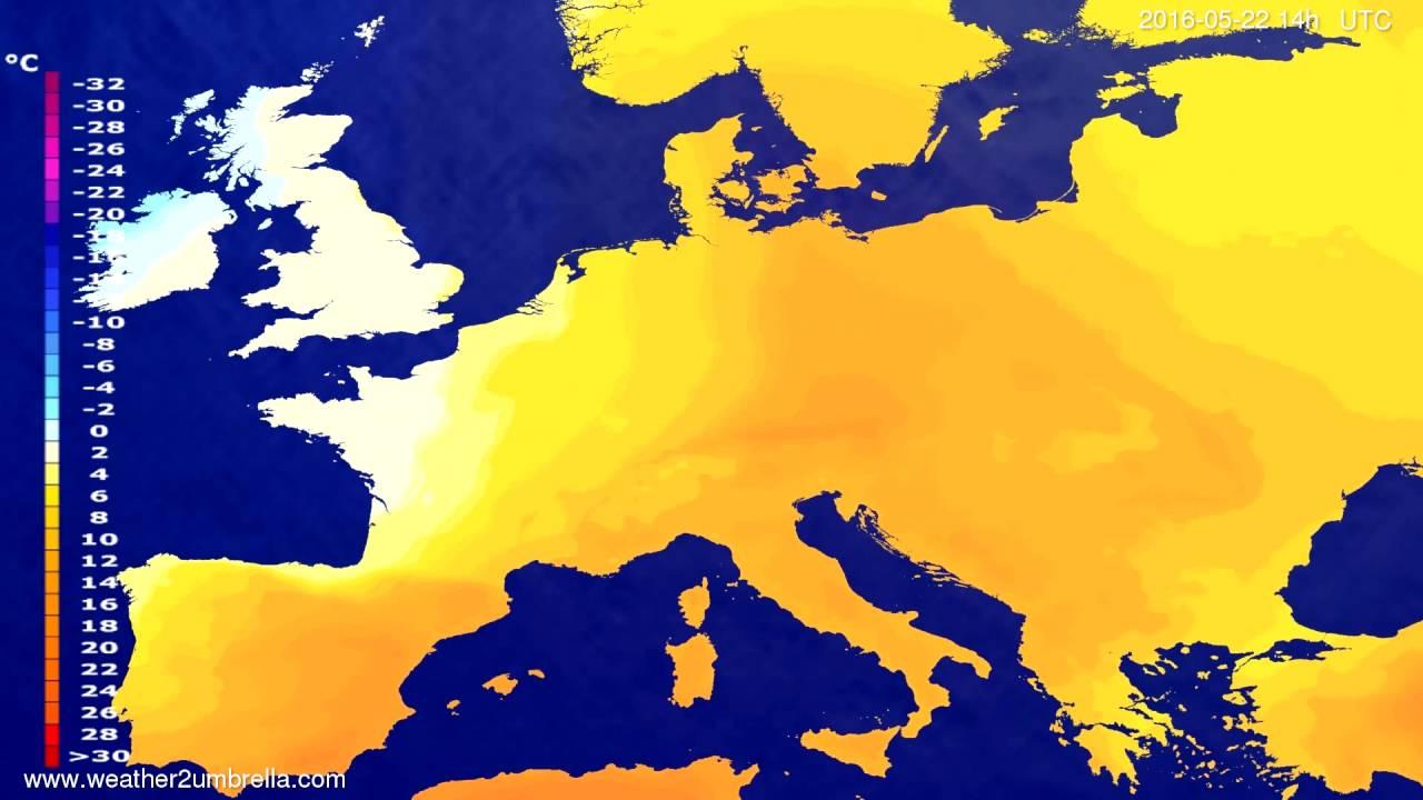 Temperature forecast Europe 2016-05-18
