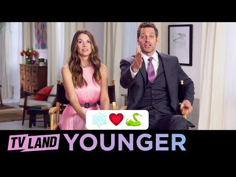 Music Emoji Game 🎵 w/ the Cast of Younger | (Season 5) | TV Land