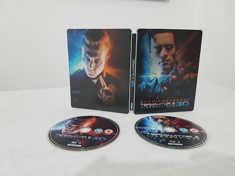 Terminator 2 Judgment Day 3D+2D Steelbook Edition Bluray Movie Unboxing