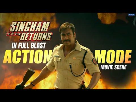 Singham Returns in Full Blast Action Mode | Movie Scene | Ajay Devgn, Kareena Kapoor | Rohit Shetty