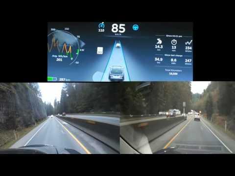 العرب اليوم - شاهد: السائق الآلي في سيارات تسلا يغيّر الطريق دون أي مساعدة بشرية